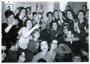 Gabicce 7 Marzo 1965 - Si festeggia in anticipo il compleanno di P.Raffaele. Il giorno dopo parte per il convento di Salsomaggiore.
