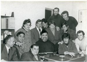 A Puianello con i pescatori di Cattolica e Gabicce (in alto frate Teodoro)