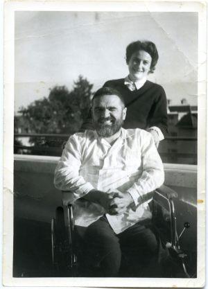 Con l'infermiera Sissel a Losanna (Agosto 1963)
